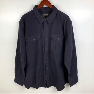 Filson Moleskin Seattle Blue Long Sleeve Shirt XXL